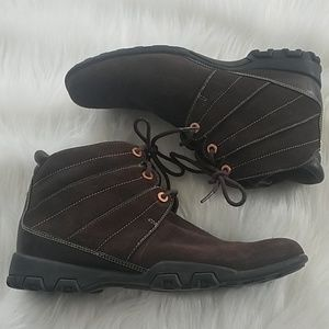 Cole Haan Waterproof Leather Ankle Boots Brown